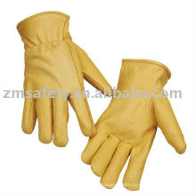 Cowgrain leather safety glove