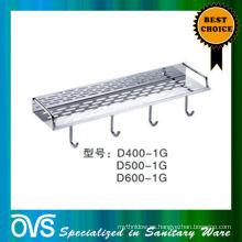 hecho en China estante de baño de metal ajustable D400-1G