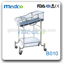 Medco B010 stainless steel portable hospital new born baby bed prices
