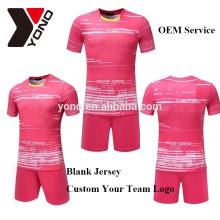 vierge nouveau maillot de football OEM personnalisé logo sublimation 2017 jersey football kit