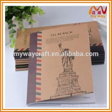 city memory kraft paper notebook, popular a4,a5 notebook of china school stationery