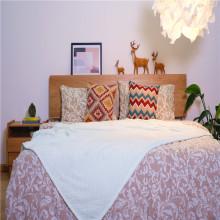 Kundenspezifische Soft Coral Fleece Velvet Jacquard Bettdecke