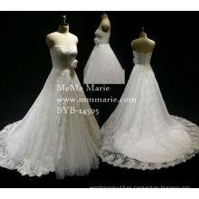 Las nuevas mujeres 2016 del estilo visten el vestido nupcial clásico elegante del vestido de boda del amor con el cordón Appliqued