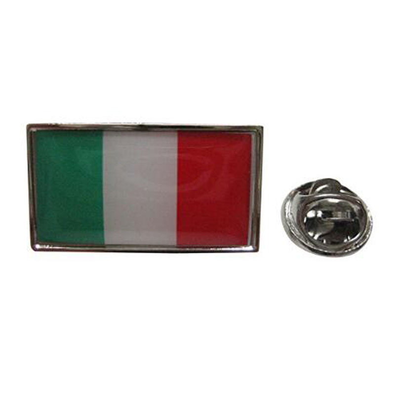 Italy Flag Design Lapel Pin
