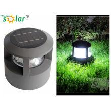 CE aluminio solar led luces para jardín cerca postes de Made in China