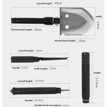 Multifunctional Folding Ordnance Shovel for Garden and Military Folding Survival Spade   Camping  Outdoor  tool  Equipment