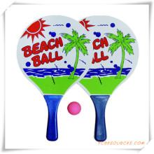 Anpassen der hölzernen Strand Schläger mit Ball für Promotion (OS05001)