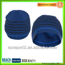 fashion blue beanie with your wovel patch BN-2043