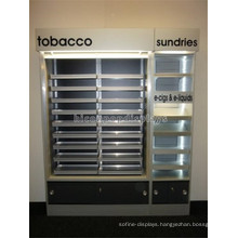 Retail Shop Large Led Lighting Display Cabinet With Drawer, Commercial Display Cigarettes Rack For Sale