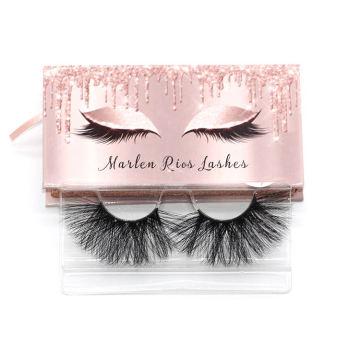 7D104 Hitomi custom lash box 100% Siberian Mink Fur Eyelashes paper eyelash packaging 3d real mink eyelash