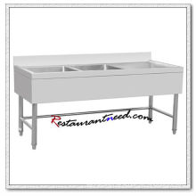 TS310 1.8m European Style Double Sinks Bench With Splashback