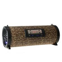 Kühles Gerät-Karaoke-System hölzern 5 Zoll 20W 3000mAh tragbarer Bluetooth-Sprecher