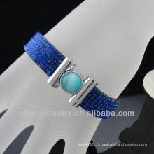 Nouveaux styles pavent le bracelet en cristal strass