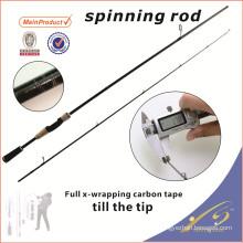 SPR115 2 unid baratos aparejos de pesca nano barra del barco de carbono caña de pescar barra de giro