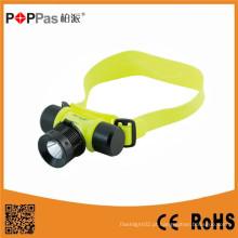 Poppas Ft50 super brilhante à prova d'água Sos Rechargerable Diving Headlamp