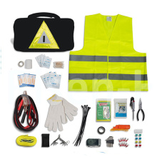 Kit de emergência para veículos / Kit de sobrevivência para veículos / Conjunto de segurança para veículos