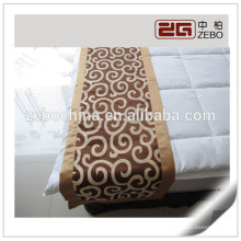 100% Polyester Nice Workmanship Hotel Use Decoration Jacquard Fabric Bed Runner