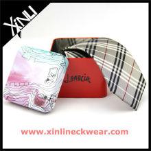 Iron Square Box Buberrry Silk Neckti