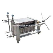Leo Filterpresse Edelstahlplatte und Rahmen Hydraulische Filterpresse