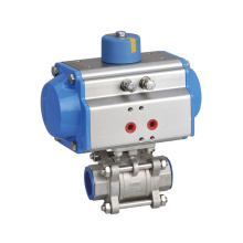 High Quality Pneumatic Actuated Stainless Steel Flanged Ball Valve