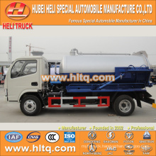 DONGFENG 4x2 small sewage truck with vacuum pump hot sale