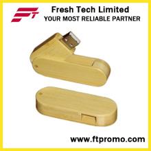 Bambu e madeira estilo USB Flash Drive com logotipo (D806)