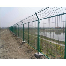 Green Powder Coated Frame Wire Mesh Fencing