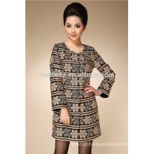 OEM bordado de alta qualidade design de moda mulheres longa casaco de trincheira trech coat