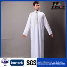 Poliéster tecido thobe árabe para homens