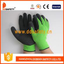 Green Liner Coated Black Latex Glove Dkl814