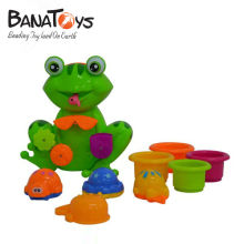 Lovely plastic frog style baby bath toy