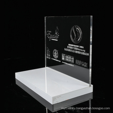 White Acrylic Makeup Display Stand, Skin Care Display Promotion Contertop