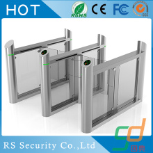 Card Reader Wharf Double Head Glass Turnstile Gate