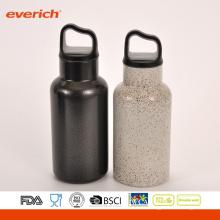 Прохладный черный порошок Покрытие нержавеющей стали Спорт бутылки воды