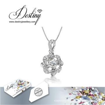 Schicksal Schmuck Kristall von Swarovski Halskette neue Blume Anhänger