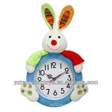 Reloj de pared decorativo de peluche adorable conejito