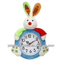 Очаровательные настенные декоративные плюшевые настенные часы