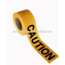 high break strength barricade pe yellow caution tape