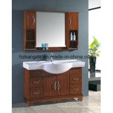 Gabinete de banheiro de madeira maciça / vaidade de banheiro de madeira maciça (KD-448)