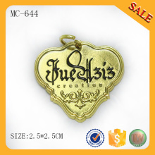 MC644 gold metal plate with custom engraved logo