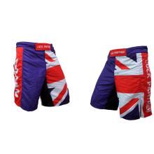 MMA Shorts com Bandeira, Sublimated MMA Shorts, Shorts de treinamento por atacado