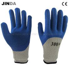 Латексная пена с покрытием Terry Yarn Liner Защитные рабочие рабочие перчатки (LH601)