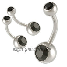 14G не болтаться струи CZ камень первоначальный кольца пупка