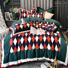 Home Bedding Best Quality Bedding Cotton Fabric Comfortable for 4PCS Double Bed Sheet