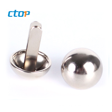 custom silicone resin resinic round shape bag accessory brass button for jeans