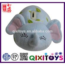 Wholesale custom elephant shaped plush piggy bank
