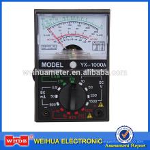 Multímetro analógico Multímetro analógico, medidor de corriente Medidor portátil Medidor YX Tester YX-1000A