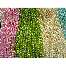7-8mm AA Nugget Multi-Color Pearl Strands