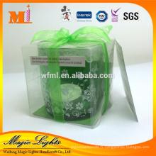 Bougie de photophore individuelle d'emballage de cadeau avec le support en verre de couleur