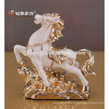 Small table modern style horse ornament resin animal figurine for decoration home pieces